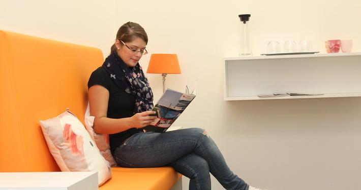 Wartezimmer Prophylaxe, Zentrum für Zahngesundheit, Bühl